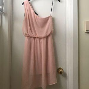 Forever 21 Pink One Shoulder Dress